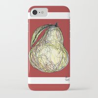 pear iPhone & iPod Cases featuring Pear by Ursula Rodgers