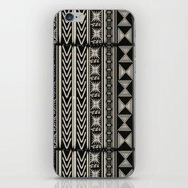 Boho Mud cloth (Black and White) iPhone Skin