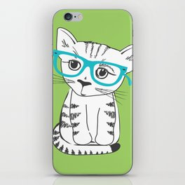 Nerdy Kitty iPhone Skin