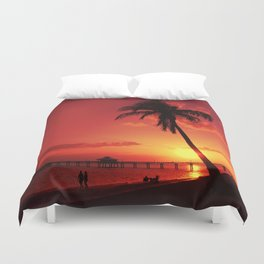 Romantic Sunset Duvet Cover