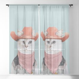 Rodeo Cat Sheer Curtain