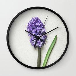 Lilac Hyacinth Wall Clock