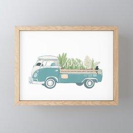 TukTuk Cat Van/truck deliver Plants & Flower Framed Mini Art Print