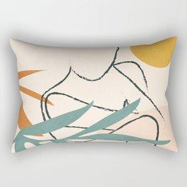Minimal Line in Nature II Rectangular Pillow