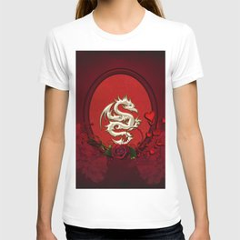 Chinese dragon with hearts T-shirt