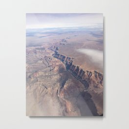 Flying over the Grand Canyon Metal Print