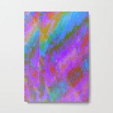 RAINBOW GLITCH ART Metal Print
