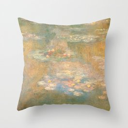 Water Lilies Claude Monet 1908 Throw Pillow