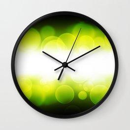 banner of yellow defocus light Wall Clock