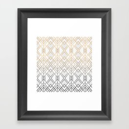 Gold And Grey Geo Framed Art Print