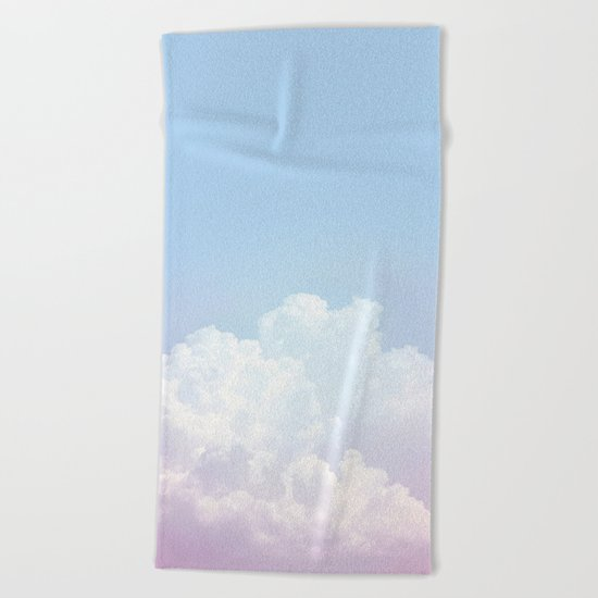 Dreamy Cotton Blue Sky Beach Towel