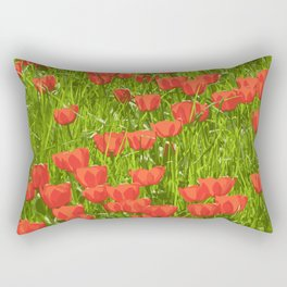 tulips field Rectangular Pillow