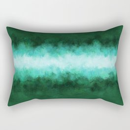 Green Forest Abstract Rectangular Pillow
