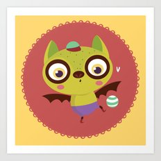 Bat and ball Art Print