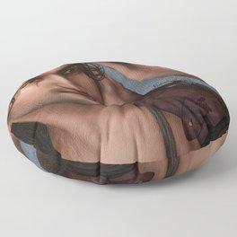 Nagron First Kiss (Nasir, Spartacus) Color Version Floor Pillow