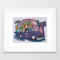 van Framed Art Prints featuring Van by manuvila