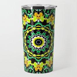 Orange Yellow and Green Kaldeidoscope 2 Travel Mug