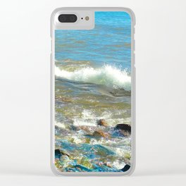 Rocky Shore 3 Clear iPhone Case