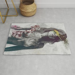 To The Marrow: Autumn (nude faceless girl in topless with lilies) Rug