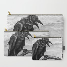 Raven in the Mist Carry-All Pouch