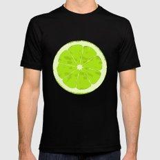 Lime Mens Fitted Tee MEDIUM Black