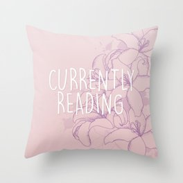 Currently Reading - Purple Throw Pillow