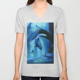 A midnight aquarium Unisex V-Neck