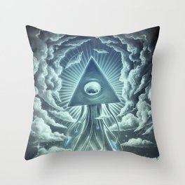War Of The Worlds I. Throw Pillow