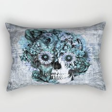 Blue grunge ohm skull Rectangular Pillow