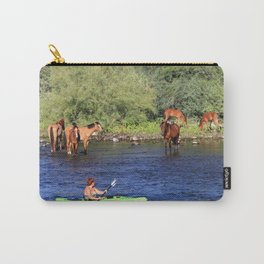 Kayaking with the Horses Carry-All Pouch