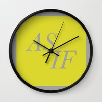 clueless Wall Clocks featuring As If by Nina & Charlotte