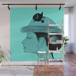 Audrey Blue Wall Mural