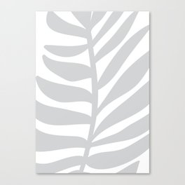 Palm Frond in Gray Canvas Print