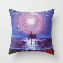 Ka Mahina Pā Konane Throw Pillow