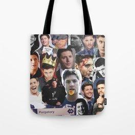 Jensen Ackles Collage Tote Bag