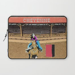 Cheyenne Rodeo Cowgirl Barrel Racing Laptop Sleeve