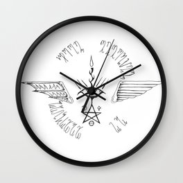 From Eternity to Eternity (Transparent Black) Wall Clock