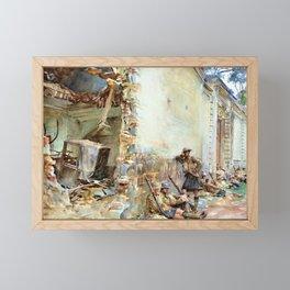 John Singer Sargent - A Street in Arras - Digital Remastered Edition Framed Mini Art Print
