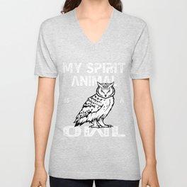 Spirit Animal Owl Unisex V-Neck
