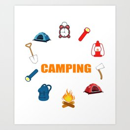 This Is My Camping Shirt Camper And Hiker Gift Art Print