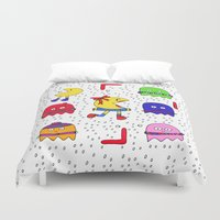 game of thrones Duvet Covers featuring Winter game by andy_panda_
