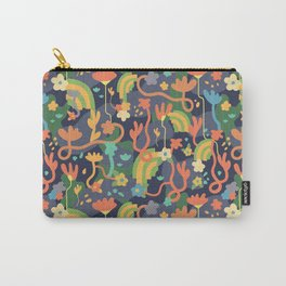 Underground Flowers Rainbow Carry-All Pouch