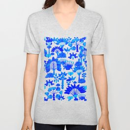 Exotic Garden Blue Unisex V-Neck