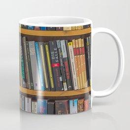 Bookshelf Books Library Bookworm Reading Pattern Coffee Mug