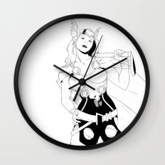 Tarene (Thor Girl) Wall Clock