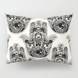 Hamsa Hand Panda Pillow Sham