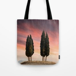 Sunset at Toscany Tote Bag