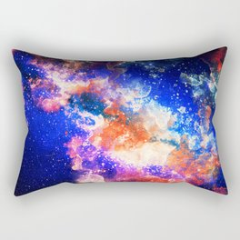 Watercolor Nebula Rectangular Pillow