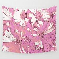 daisy Wall Tapestries featuring Daisy  by Saundra Myles