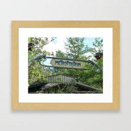 Metropolitain Framed Art Print
